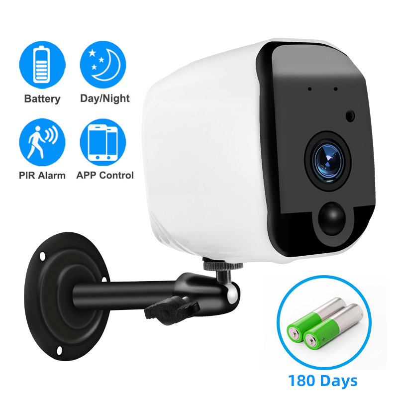 New WiFi Camera Security IP Camera 1080P Battery Powered 2.0MP HD Outdoor Wireless  Surveillance Weatherproof PIR Alarm Record