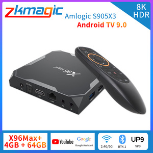 Android 9.0 Smart TV BOX X96 MAX Plus 4GB 64GB 32GB Amlogic S905X3 Quad Core 8K Video Player Wifi 2.4/5G Set-top tv box x96 max+