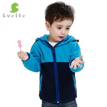 SVELTE for 2017 New Spring Fall Age 2-10 Children Kids Boys Collision Color Design Fleece hoodie Jacket Sweatshirts Jersey