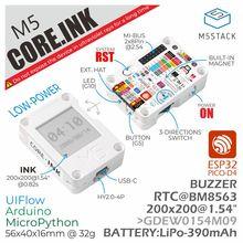 Официальный комплект разработки чернил M5Stack ESP32 Core (дисплей eInk 1,54 дюйма), терминал IoT, электронная книга, промышленная панель управления 390 мА...