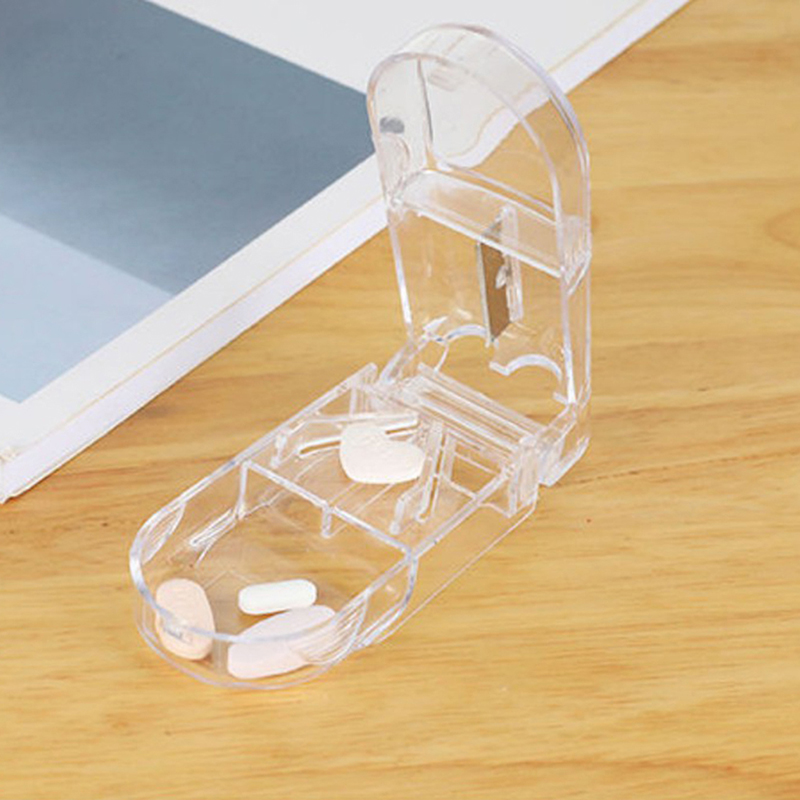 Мини Портативный делитель таблеток медицинский ящик для измельчитель для таблеток шлифовальная машина сплиттер нож для разрезания таблет...