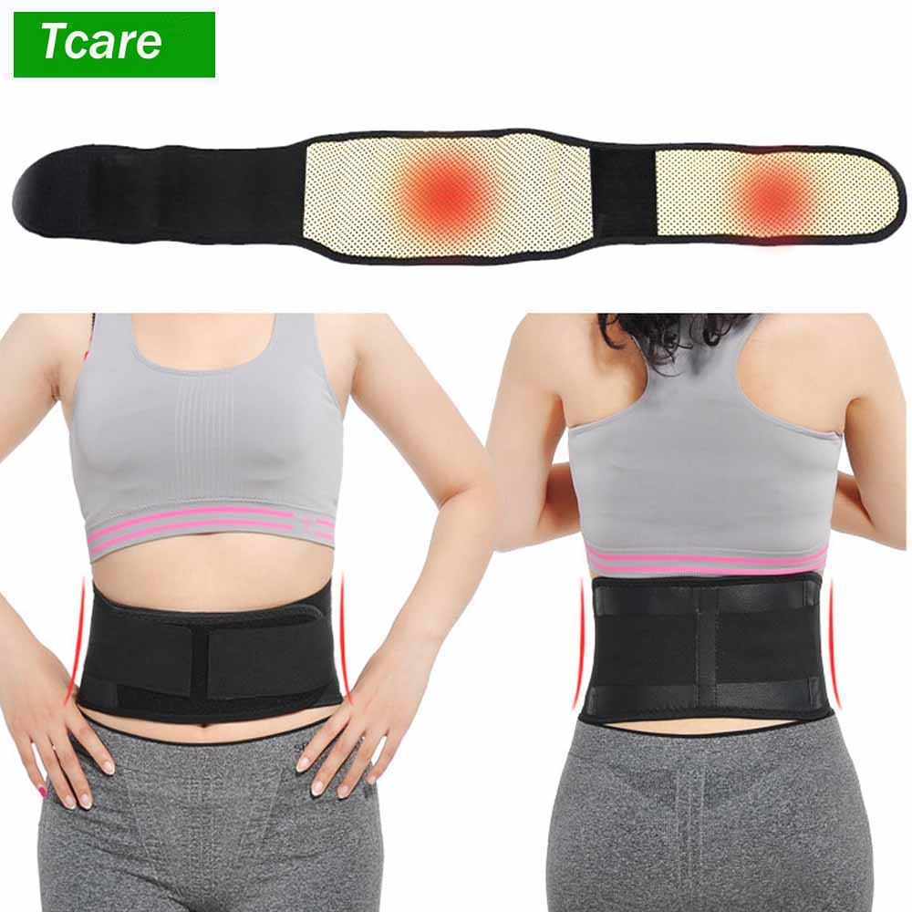 Tcare Adjustable Waist Tourmaline Self heating Magnetic Therapy Back Waist Support Belt Lumbar Brace Massage Band Health Care|Braces & Supports|   - AliExpress