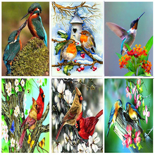 Full Drill Round 5D DIY Diamond Painting Birds Resin Crystal Embroidery Cross Stitch Animal Diamond Mosaic Art home Decor gifts full drill round 5d diy diamond painting birds resin crystal embroidery cross stitch animal diamond mosaic art home decor gifts