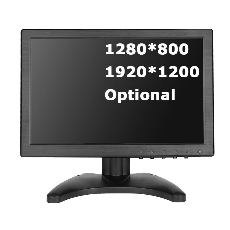 10,1 дюймовый широкоэкранный монитор 1280*800 1920*1200 tft небольшой дешевый hdmi vga монитор с динамиками