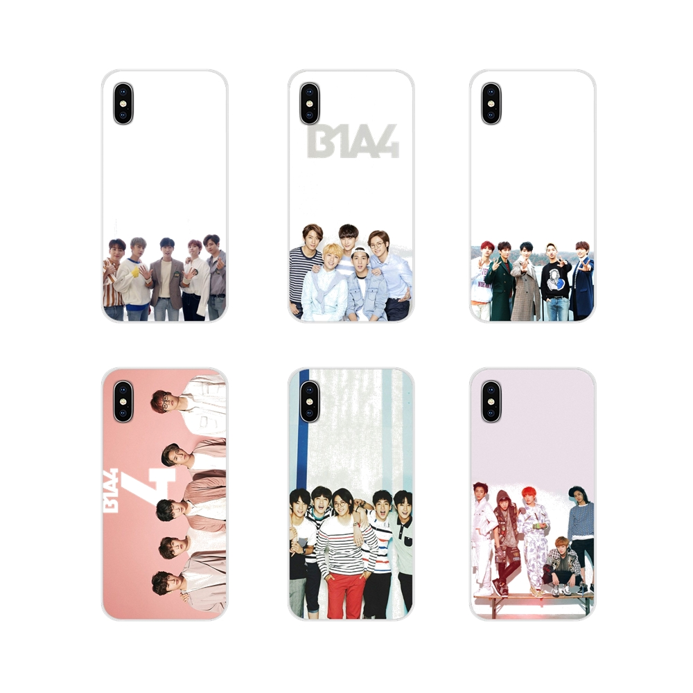 Accessories Phone <font><b>Cases</b></font> Covers <font><b>Korean</b></font> kpop B1a4 For <font><b>Samsung</b></font> Galaxy S3 S4 S5 Mini S6 S7 Edge <font><b>S8</b></font> S9 S10 Lite Plus Note 4 5 8 9 image