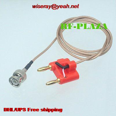 DHL/EMS 30pcs Cable BNC Male Q9 To Dual Double Banana Plug 4mm Test Probe Leads RG316 100CM-test Cable-A6