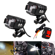 1 Or 2PCS Mode Motorcycle LED Headlamp Headlight 20W 3000LM 6500K Motorbike Driving Spot light Lamp