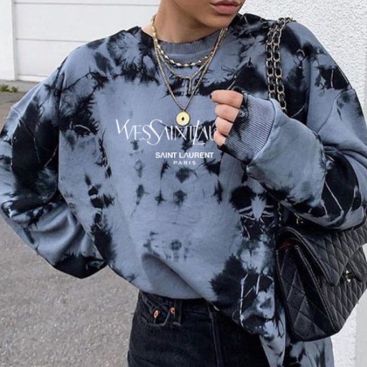 Vintage Totem Print Loose Stylish Young Girl Sweatshirt Women Tops Shirts 2020Autumn New Fashion Long Sleeve Plus Size Pullovers 11
