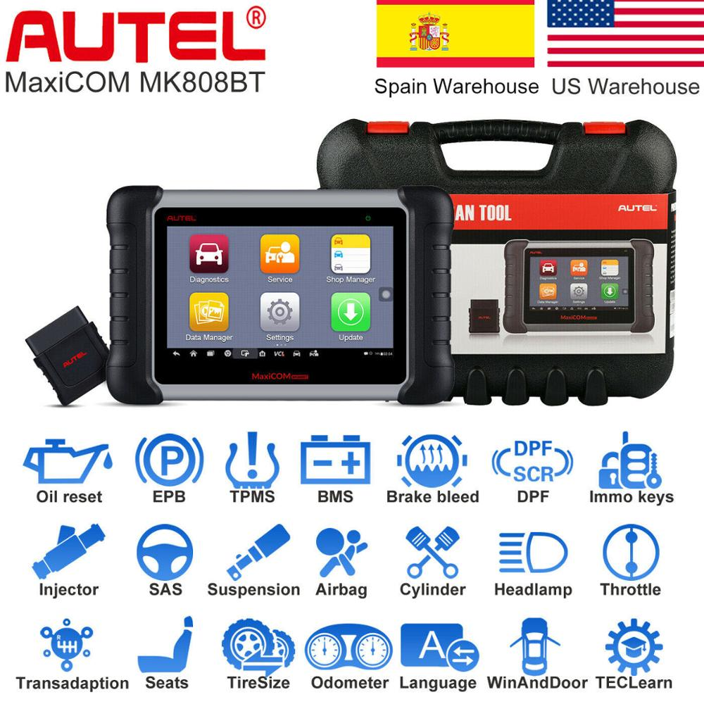2019 Newest Autel MaxiCOM MK808BT OBD2 Scanner Car Diagnostic Tool Auto IMMO/EPB/SAS/BMS/TPMS/DPF Upgraded Version of MK808|Code Readers & Scan Tools|   - AliExpress