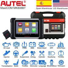 Autel – MaxiCOM MK808BT OBD2, outil de Diagnostic automobile, IMMO/EPB/SAS/BMS/TPMS/DPF, Version améliorée, 2021