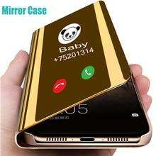 цена Luxury Smart Mirror Flip Phone Case For Samsung Galaxy Note 10 9 8 Pro S10 S9 S8 Plus M20 M30 A10 A20 A30 A50 A60 A70 Case Cover