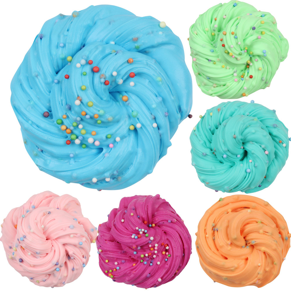 60ml Color Matching Cotton Mud Vent Clay Toy Fairy Floss Cloud Slime Reduced Pressure Mud Stress Relief Kids Clay Toy L107