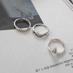 Женское Открытое кольцо в виде волны, из серебра 925 пробы