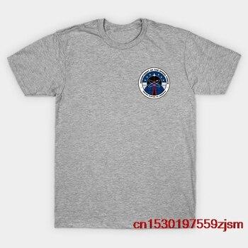 Camiseta con emblema de la fuerza espacial Netflix para hombre y mujer