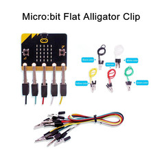 5 pcs/lot Micro:bit 40mm Flat Alligator Clip Double-headed Alligator Programmer Clips with for Microbit Flat Cable Wire