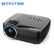 BYINTEK GP70UP Smart Android Built-in wifi and Bluetooth Home Theater Video Mobile phone LED Mini Projector Proyector Beamer стоимость