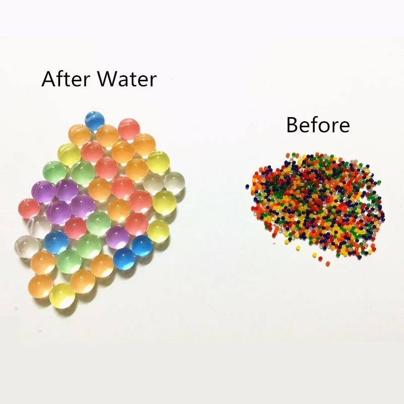 1000Pcs/Set Dropshipping Pearl Shaped Crystal Soil Water Beads Mud Grow Magic Jelly Balls Kids Children Toy