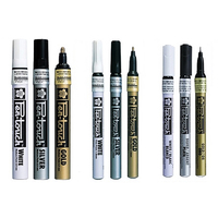 0.7/1.0/2.0mm sakura caligrafia caneta toque tinta marcador canetas ouro prata branco