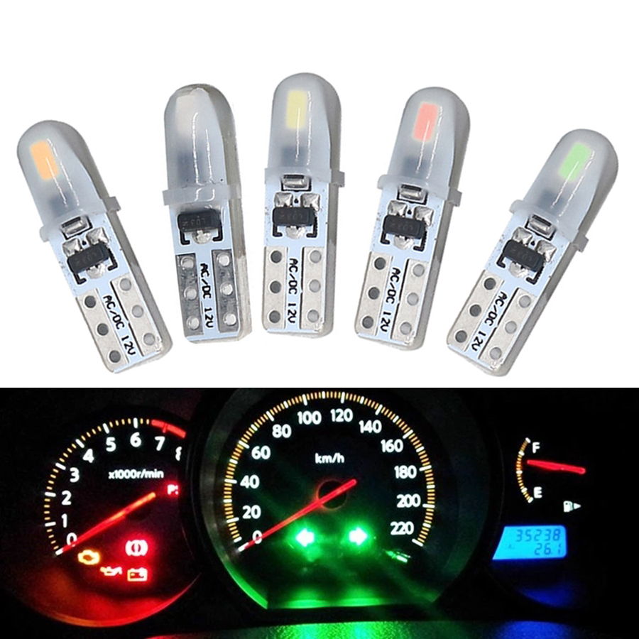 Новейшие светодиодные лампы NHAUTP 20 шт./лот T5 W1.2W W3W, лампы для приборной панели автомобиля, индикатор приборной панели, сигнальные лампы 12 В