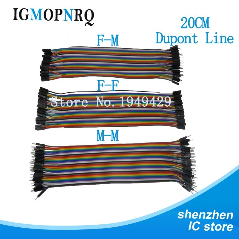 Dupont linie 120 stücke 20cm männlich zu männlich + männlich zu weiblich und buchse auf buchse jumper kabel Dupont kabel für Arduino diy kit