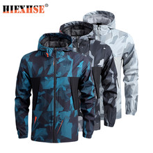 Shark Soft Shell Military Tactical Jacket Men Casual Sports Outdoor Coat Waterproof Breathable Spring Thin Men Camouflage Jacket