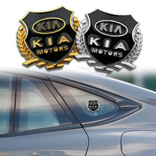 1/2 pçs adesivo do carro vip emblema emblema decalque para kia ceed rio sportage r k3 k4 k5 sorento cerato acessórios de estilo automático