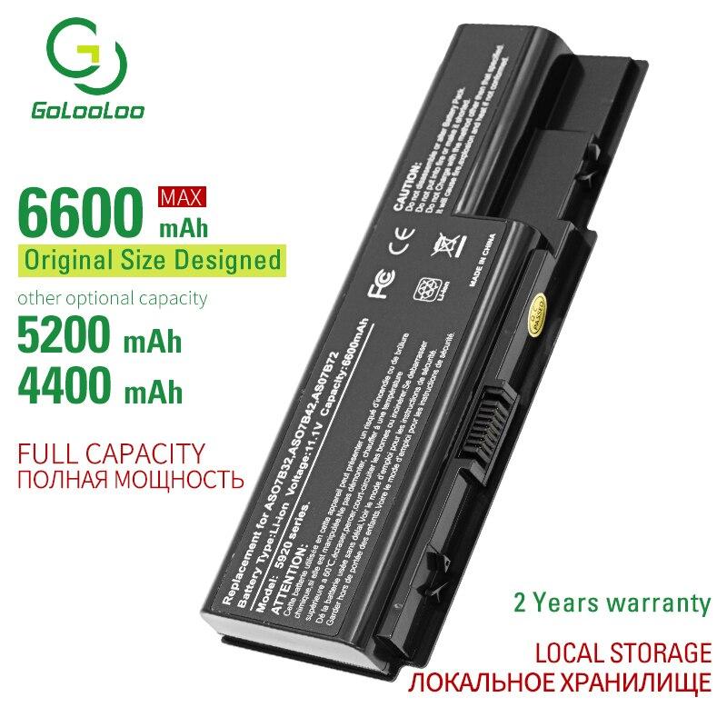 Golooloo 6 celdas de batería del ordenador portátil para Acer AS07B31 AS07B32 AS07B41 AS07B42 AS07B51 AS07B71 AS07B72 LC? BTP00.008 LC? BTP00.014 JIGU batería del ordenador portátil para Acer AS07B31 AS07B32 AS07B41 AS07B42 AS07B51 AS07B52 AS07B71 AS07B72 AS07B31 AS07B51 AS07B61