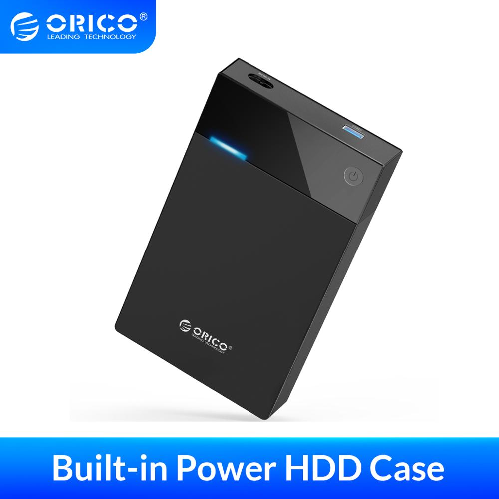 ORICO 3 5 Inch HDD Case Bulit-in Power 12V Portable SATA to USB 3 0 Hard Drive Enclosure Support 12TB HDD UASP For PC TV PS4