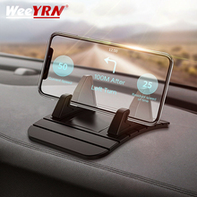 цена на WeeYRN Mount Phone Stand Bracket Car Dashboard Non-slip Mat Silicone Phone Holder Pad For iPhone Huawei Xiaomi Mobile Holder Car