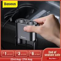 Baseus Caricabatteria Da Auto Divisore Dello Zoccolo della Sigaretta 2 Porte di Ricarica 3.1A Dual Porte Usb 80W Dual USB Accendisigari