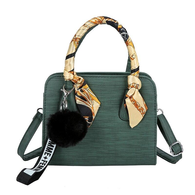 Small Satchels Women Crossbody Shoulder Bag Scarf Handbag Pendant Tote Pruse