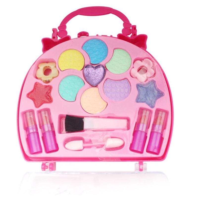 Girl Makeup Set Toy Children's Princess Play House Preschool Kid Beauty Safety Makeup Environmental Toys