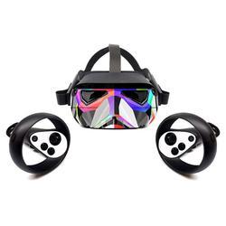 Naklejki skóra dla Oculus Quest  ochronna  trwała i unikalna winylowa tablica naścienna pokrowiec owijający   łatwe do nakładania  usuwania i zmiany stylów Akcesoria do okularów VR/AR Elektronika użytkowa -