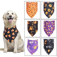 Pet saliva towel Bibs Pet Saliva Towel Halloween With Costume Puppy Decor Hats For Small Cat Dog 65X45cm soft cloth fabric