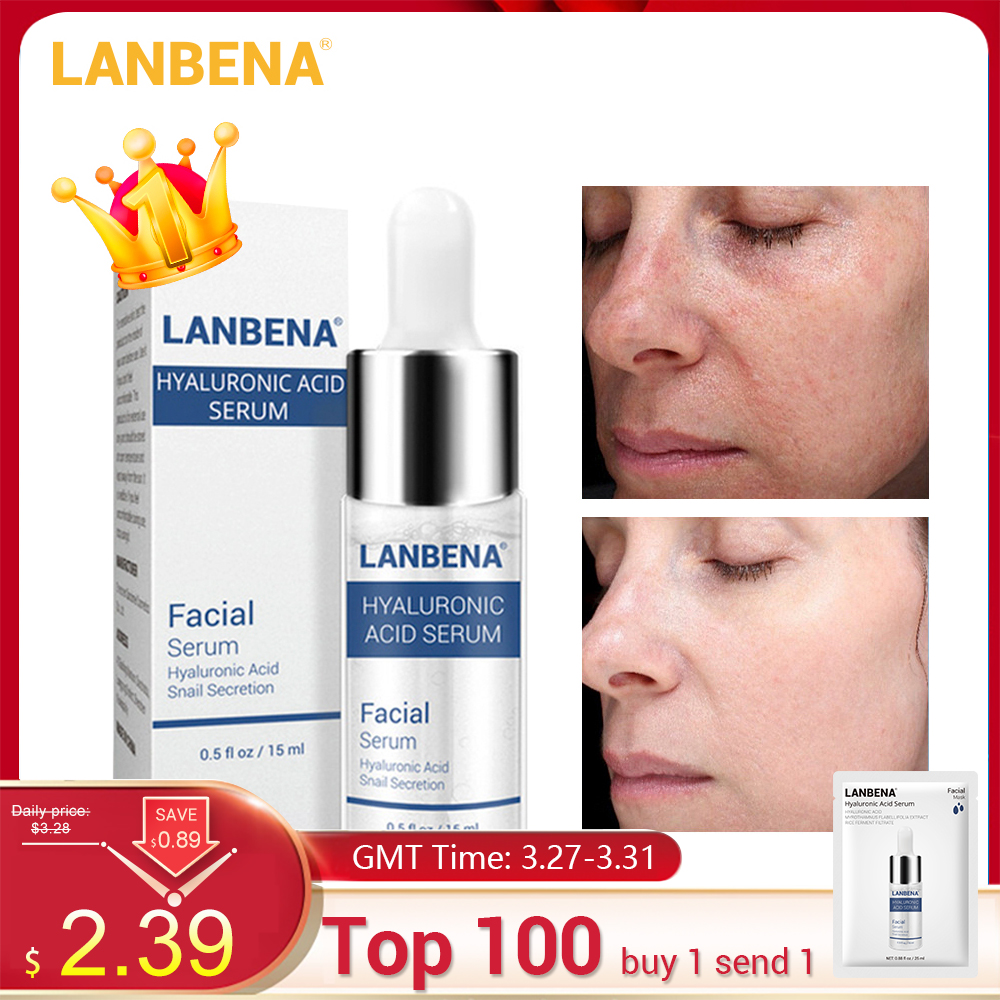 LANBENA Hyaluronic Acid Serum Blackhead Removing Moisturizing Acne Treatment Skin Care Repair Whitening Anti-Aging Winkles 15ml