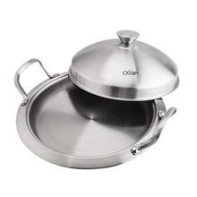 Lxbf/lxbf кухонная посуда 304 Сковорода Из Нержавеющей Стали не-Paintcoat 24 двойная ручка Жарка посуда нержавеющая сталь крышка