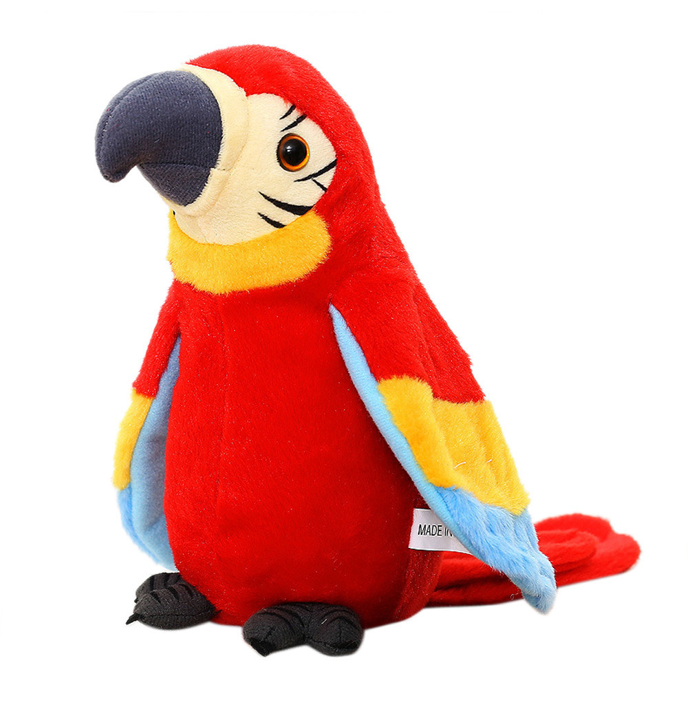 Talking Repeats Waving Wings Electric Parrot Stuffed Plush Toy Children Birthday Gift Home Shop Decors Christmas Gifts #C