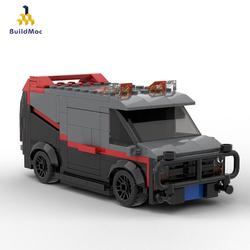 Buildmoc Technical A-Team GMC Vandura Van Attack Team Vehicle Black Super Racing Children Diy Building Block Model Toys Boy Gift