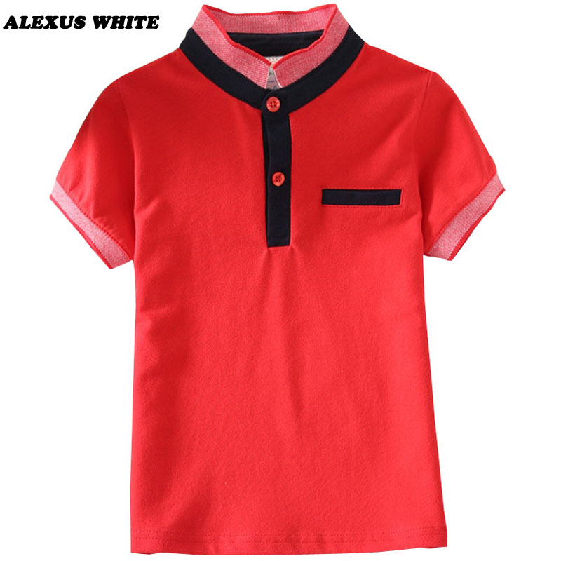 BOYS KIDS STRIPED SUMMER COTTON POLO SHIRT RED BLUE NAVY AGE 1 2 3 4 5 6 7 8 9