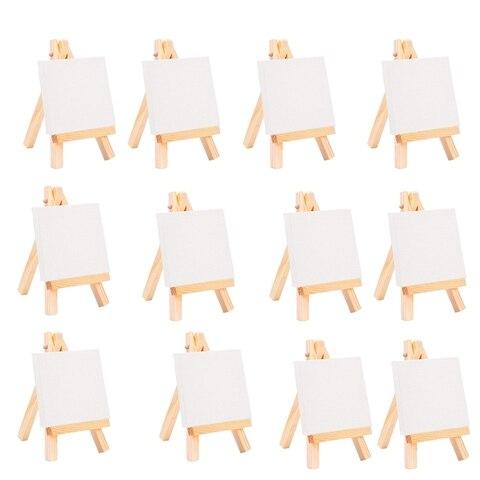 24 conjunto de artistas 5 polegada mini cavalete 3 polegada x3 polegada mini conjunto de