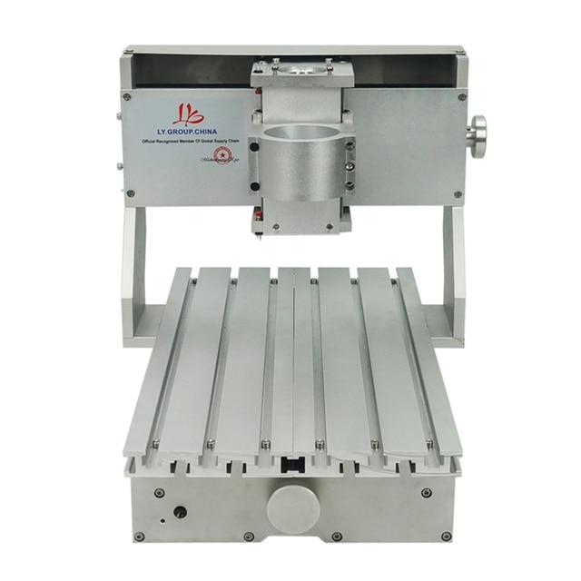 מיני DIY CNC מכונת CNC 3020 מסגרת קידוח מכונת הטחינה עבור תחביב תכליתי 65mm ציר ללא מנוע