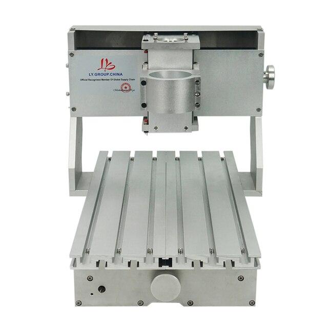 Mini DIY CNC makinesi CNC 3020 çerçeve sondaj ve freze makinesi hobi amaçlı 65mm mil Motor olmadan