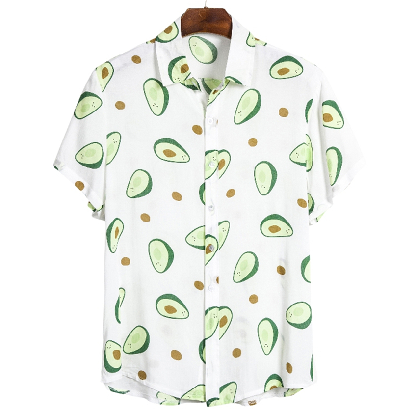 Brand New Men's Summer Hawaiian Beach Resort Print Cool Cool Fashion Casual Shirt 26 Colors Shirt Men Shirt Men Short Sleeve