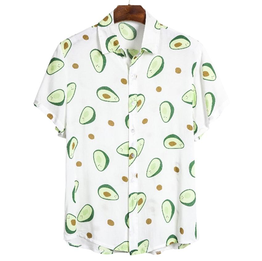 Brand New Men's Summer Hawaiian Beach Resort Print Cool Cool Fashion Casual Shirt 26 Colors Shirt Men Shirt Men Short Sleeve