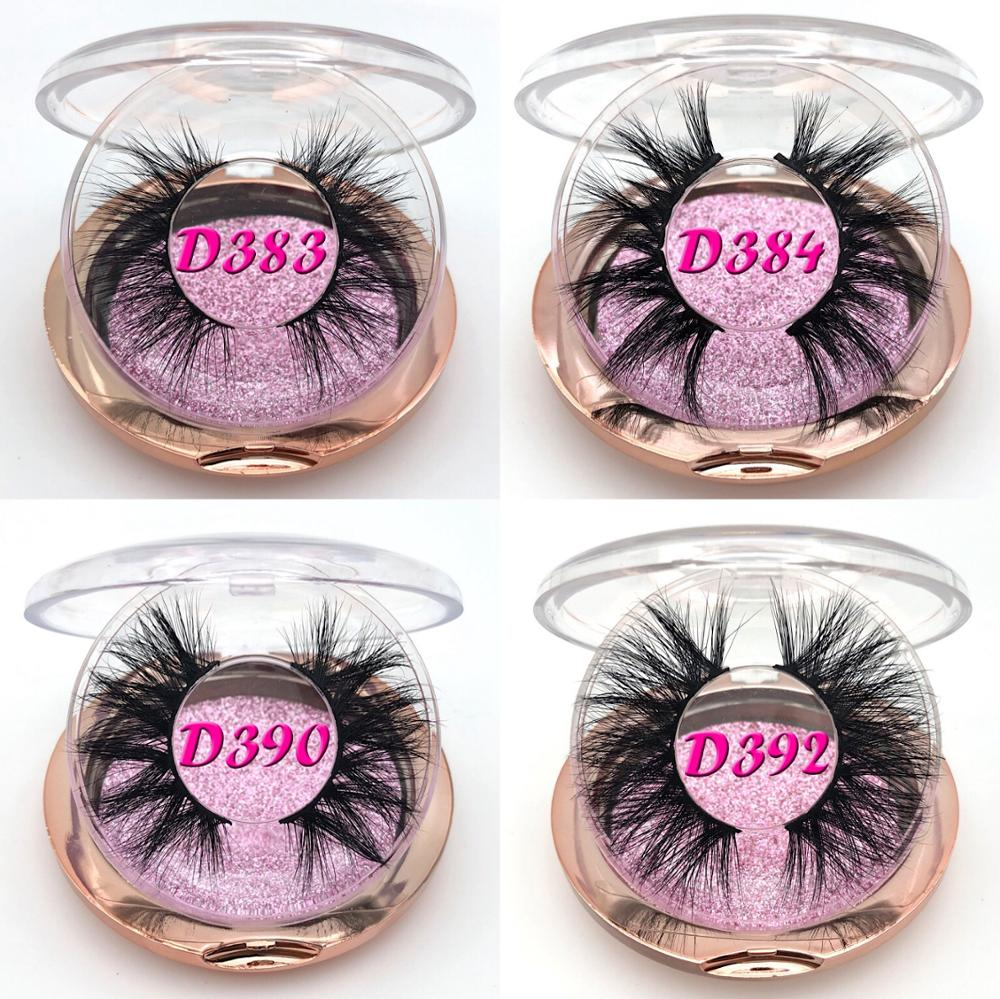 Mikiwi False Lashes 30/50 Pairs Dramatic Mink Eyelashes Bulk 25mm Full Strip Luxury Eyelashes Make Up Beauty Long 3D Mink Lashes