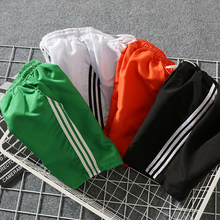 Three bar sports pants straight tube shorts for male and female students loose f