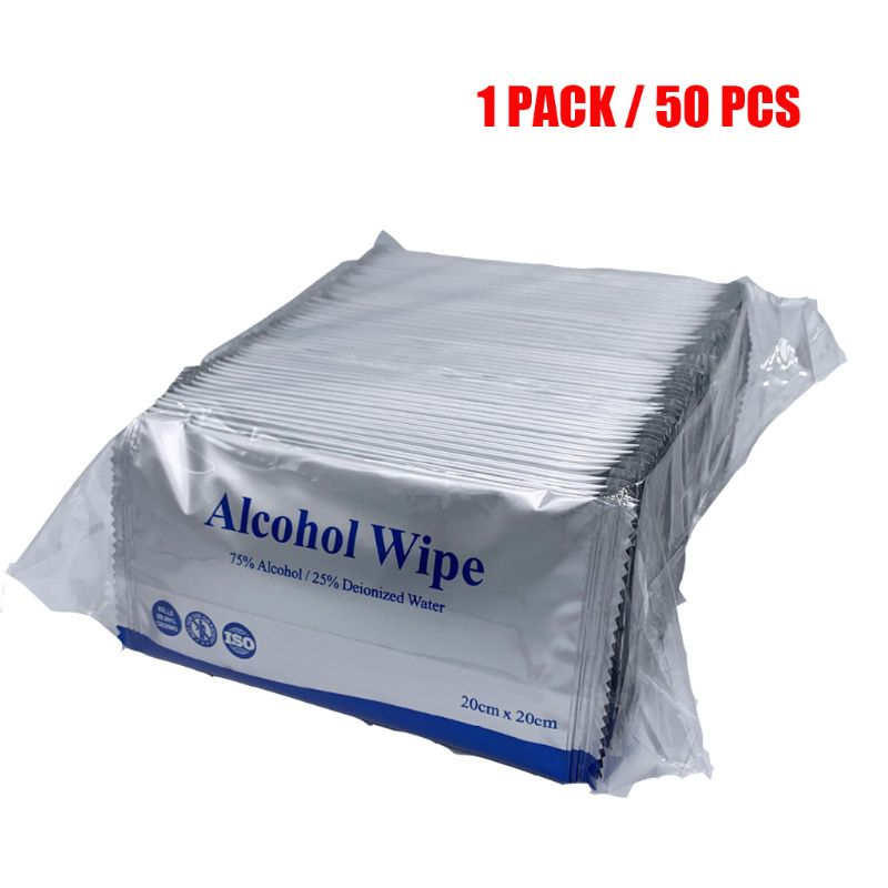 75% Alcohol Wet Wipes Hand Wipes Individually Wrapped Alcohol Wipes Travel Pack