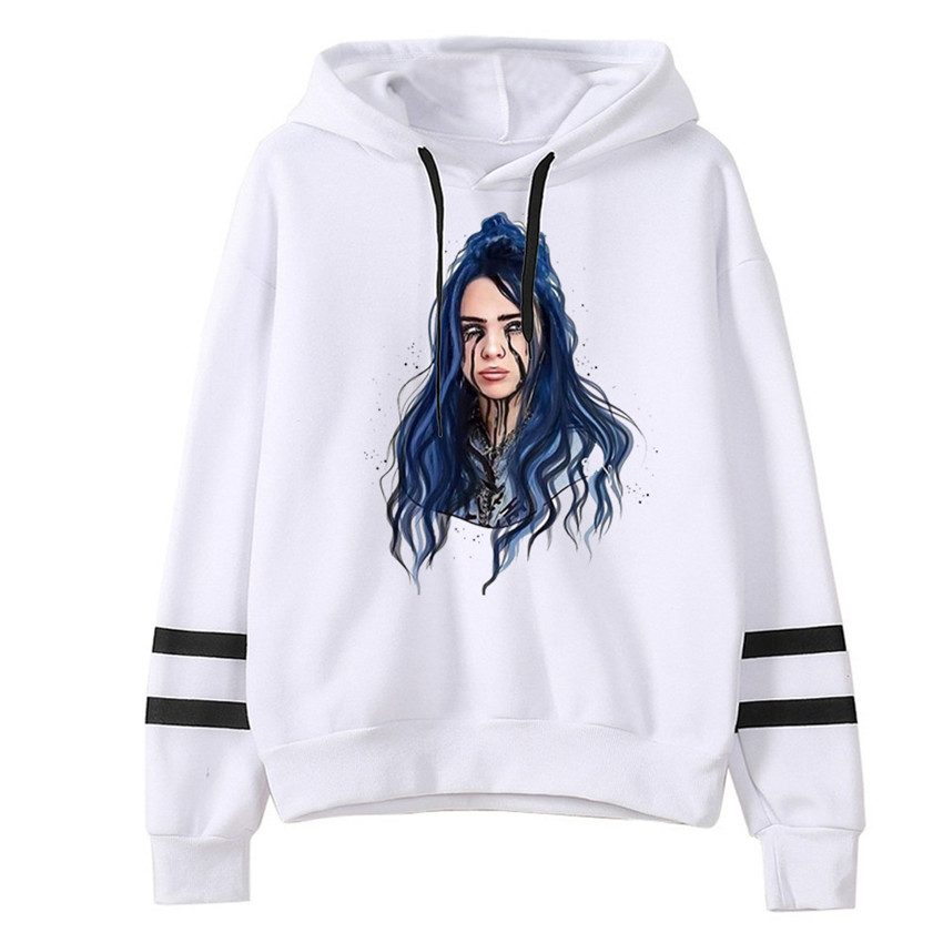 Hot 2020 Billie Eilish Hoodie Print Hooded Spring Men Women Sweatshirt Harajuku Casual Sale Hoodies Hoody Streetwear Clothes