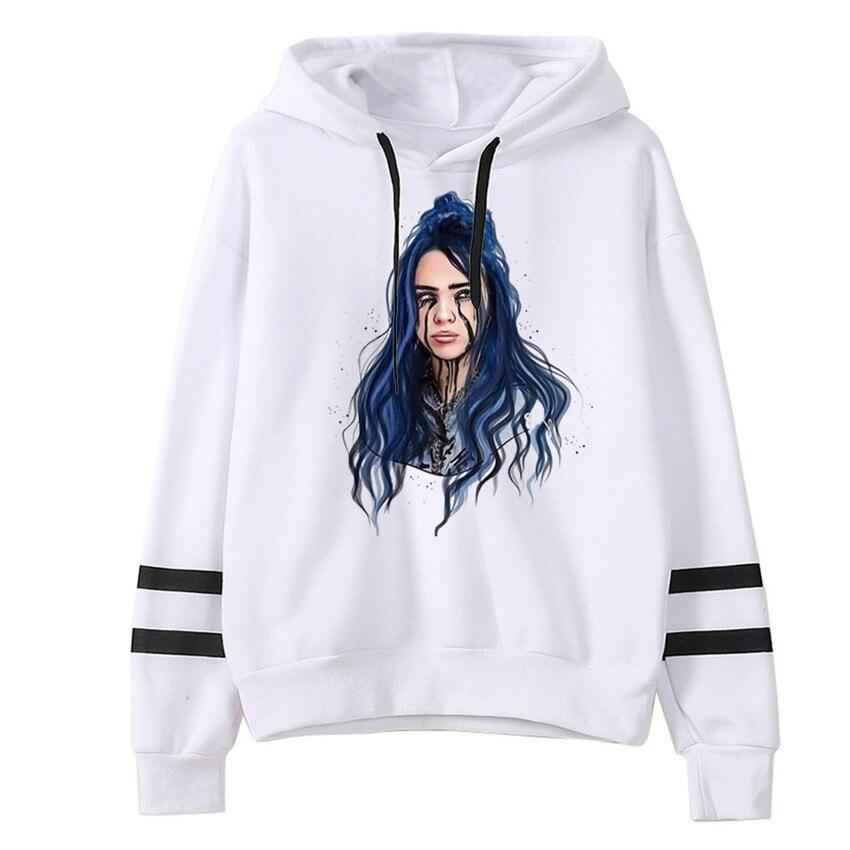 Hot 2020 Billie Eilish Hoodie Print Hooded Spring Men Women Sweatshirt Harajuku Casual Sale Hoodies Hoody Streetwear Clothes