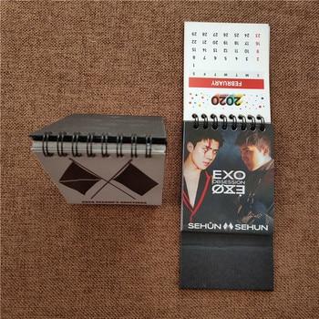 KPOP EXO New Album OBSESSION 2020 Calendar Photo Book XIUMIN SUHO LAY BAEKHYUN CHANYEOL KAI FH222 1